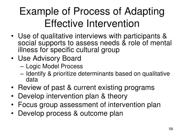 Example of Process of Adapting Effective Intervention