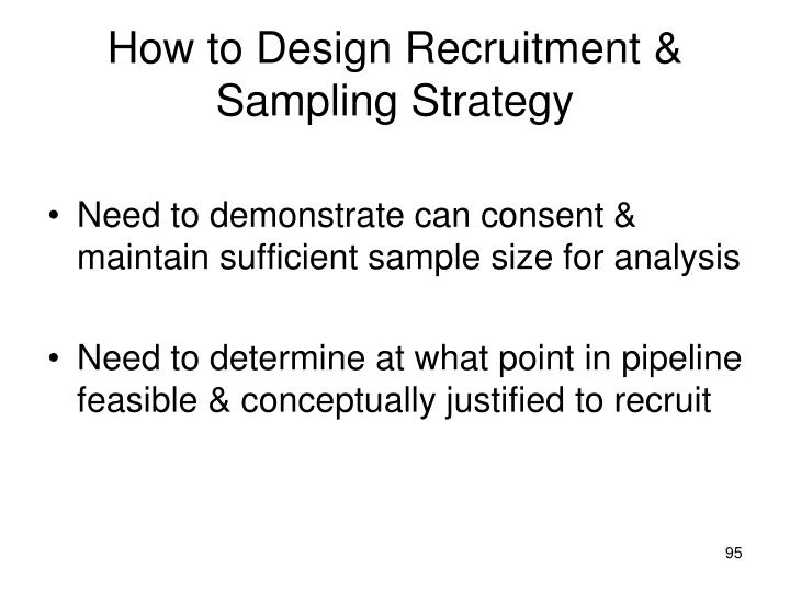 How to Design Recruitment & Sampling Strategy