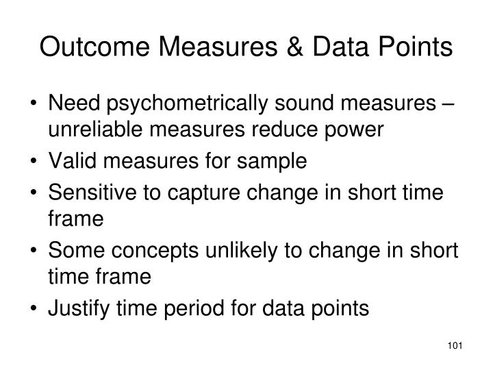 Outcome Measures & Data Points