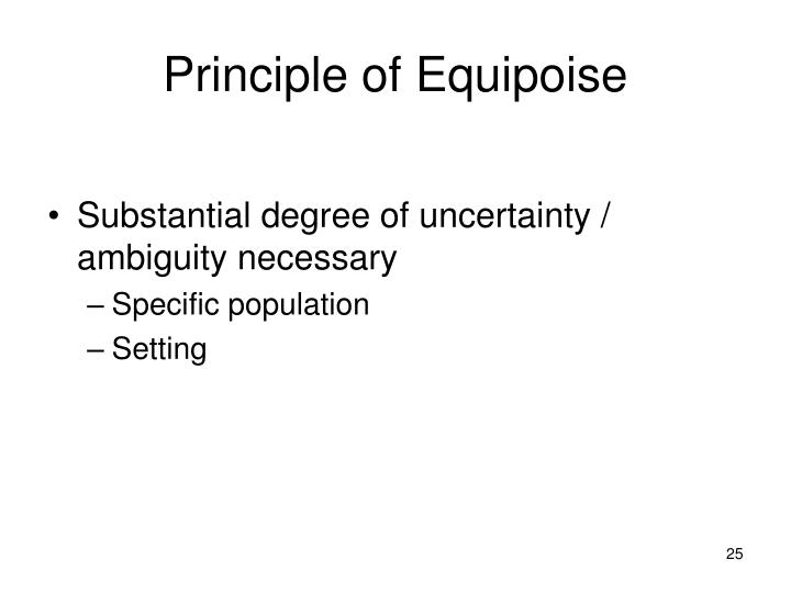 Principle of Equipoise