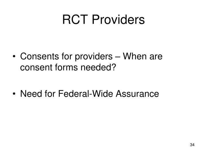 RCT Providers