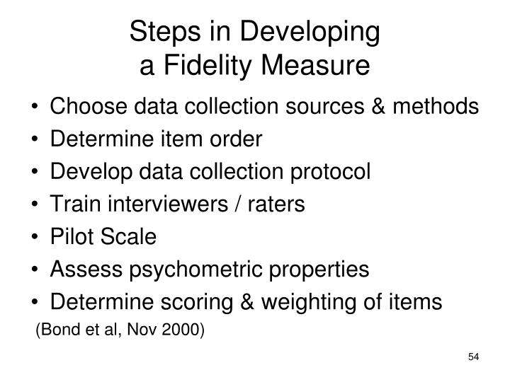 Steps in Developing