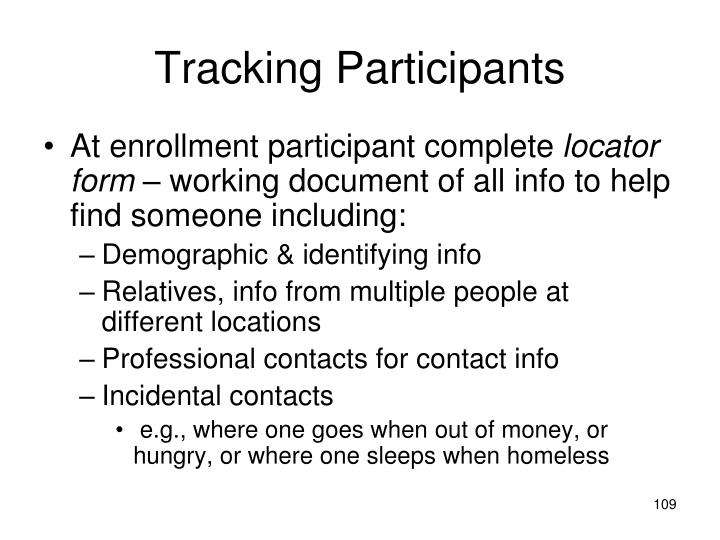 Tracking Participants