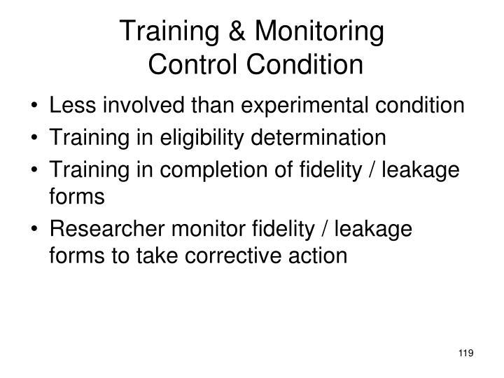 Training & Monitoring
