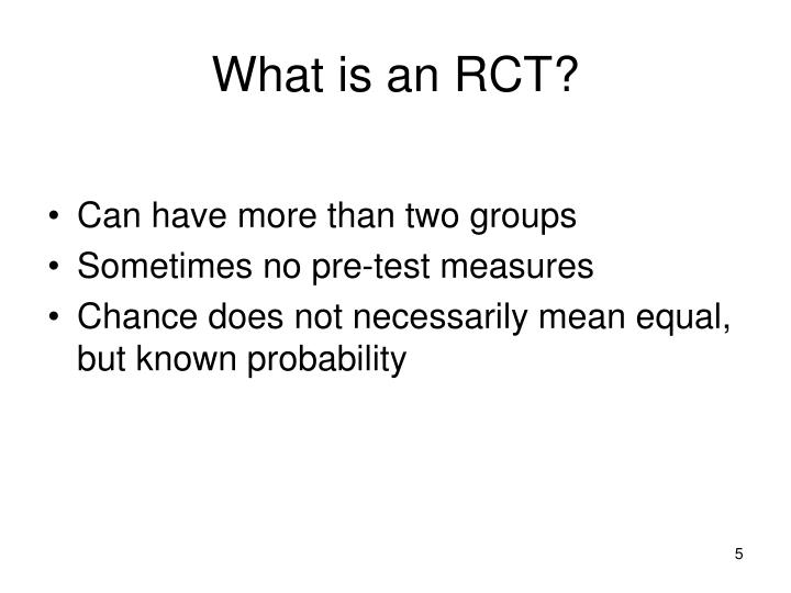 What is an RCT?