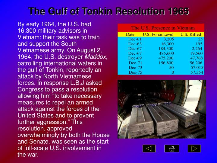 The Gulf of Tonkin Resolution 1965