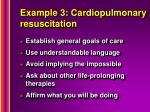 example 3 cardiopulmonary resuscitation
