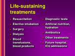 life sustaining treatments