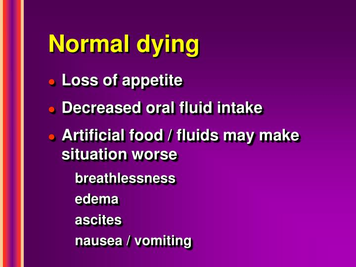 Normal dying
