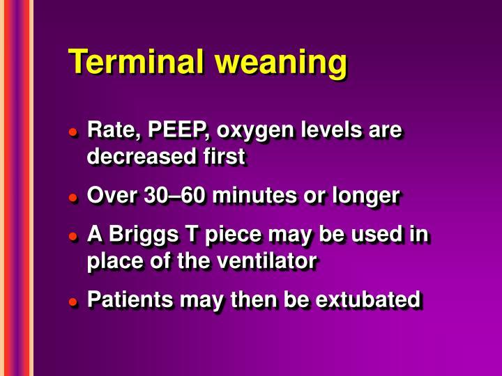 Terminal weaning