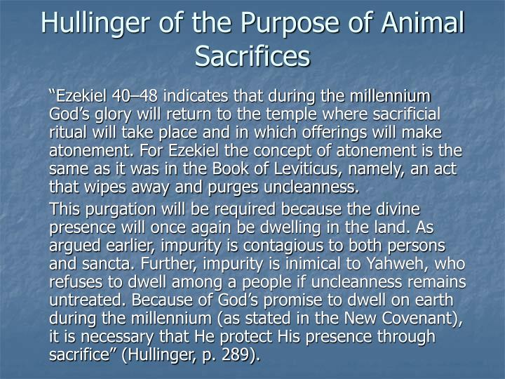 Hullinger of the Purpose of Animal Sacrifices