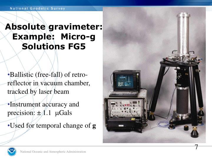 Absolute gravimeter: