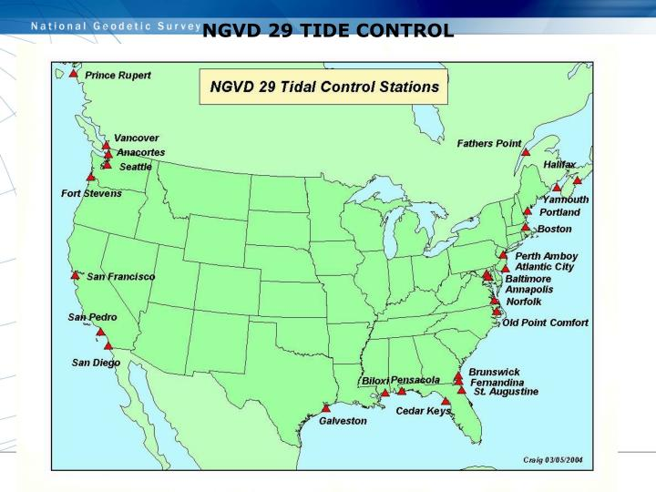 NGVD 29 TIDE CONTROL