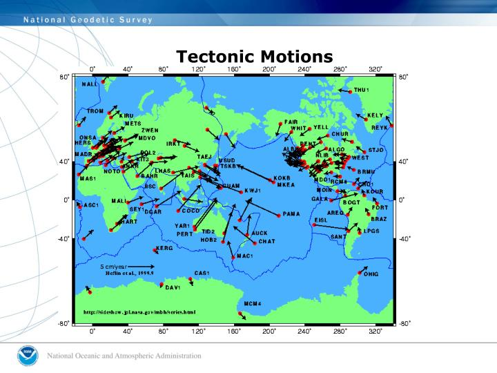 Tectonic Motions