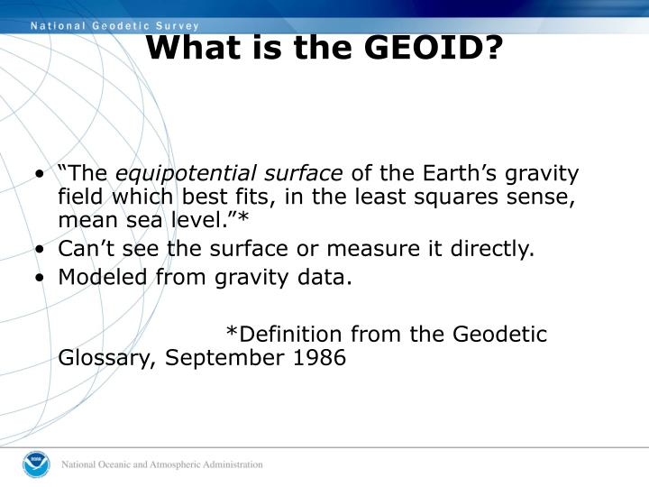 What is the GEOID?