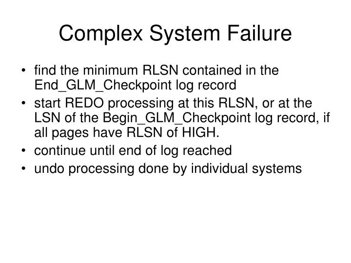 Complex System Failure