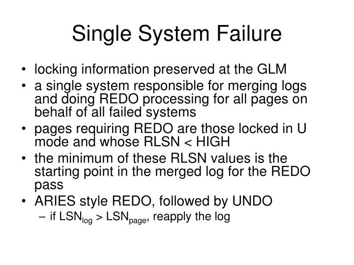 Single System Failure