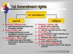 1st amendment rights