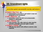 4th amendment rights