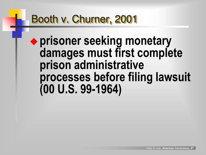 Booth v. Churner, 2001