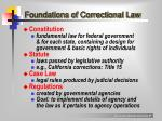 foundations of correctional law