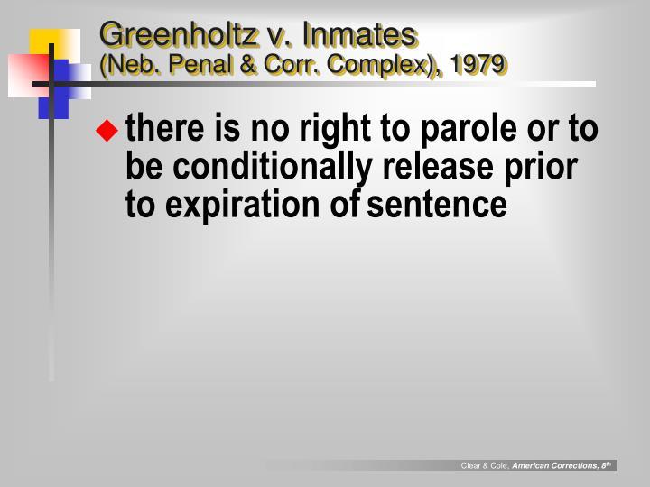 Greenholtz v. Inmates