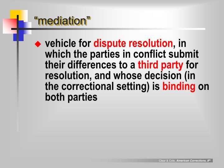 """""""mediation"""""""