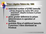 prison litigation reform act 1966