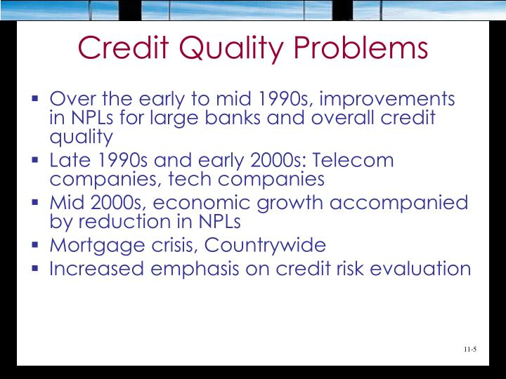 Credit Quality Problems