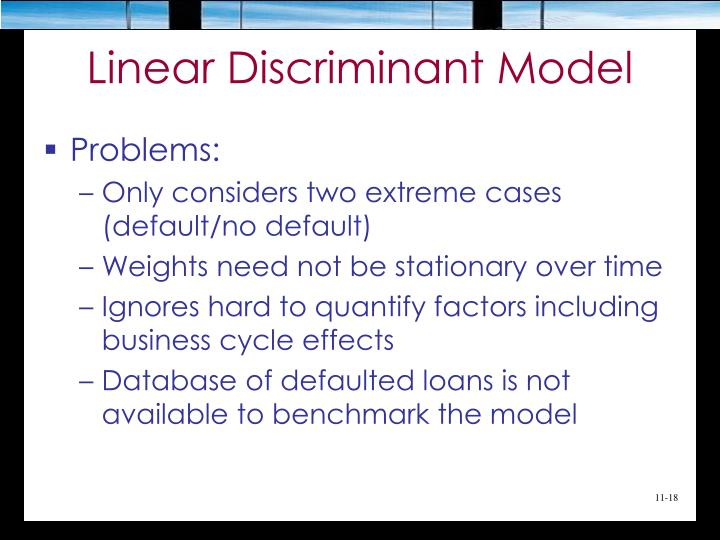 Linear Discriminant Model