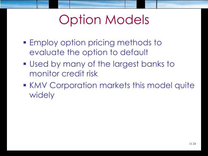 Option Models