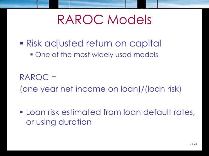 RAROC Models