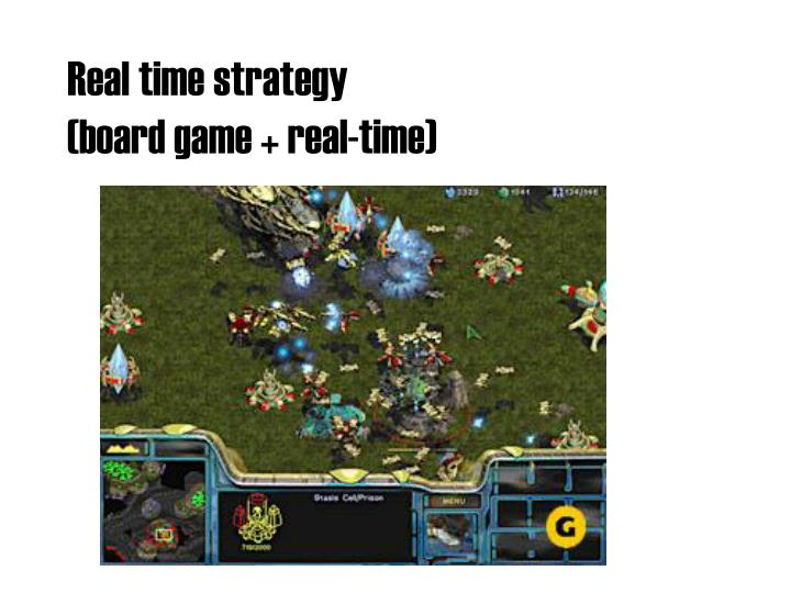 Real time strategy