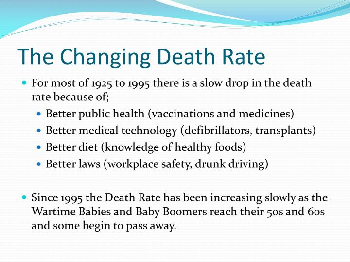 The Changing Death Rate