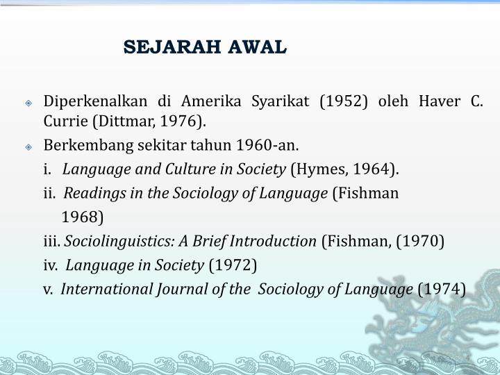 SEJARAH AWAL