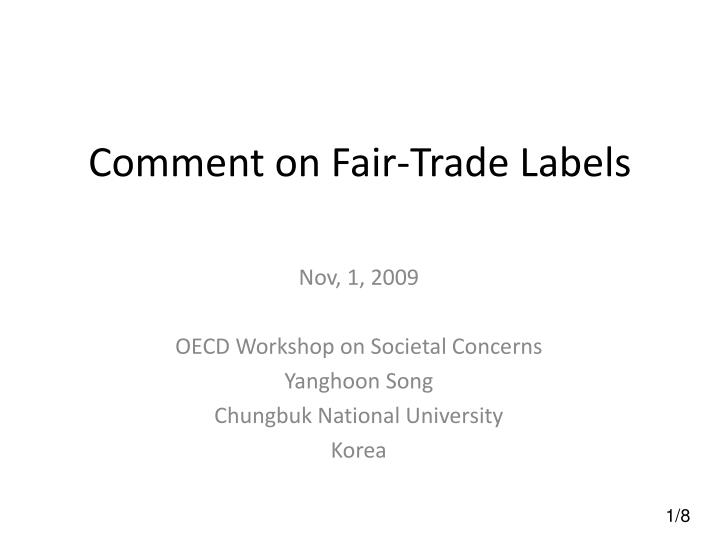 Comment on fair trade labels