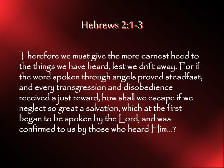 Hebrews 2:1-3