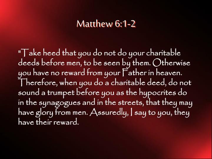 Matthew 6:1-2