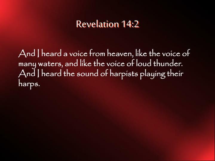 Revelation 14:2
