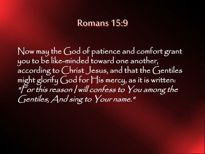 Romans 15:9