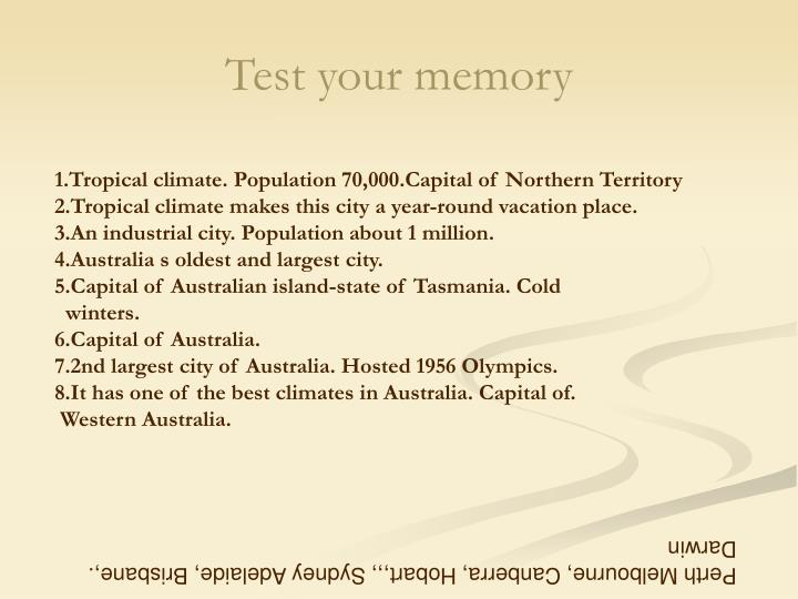 Test your memory