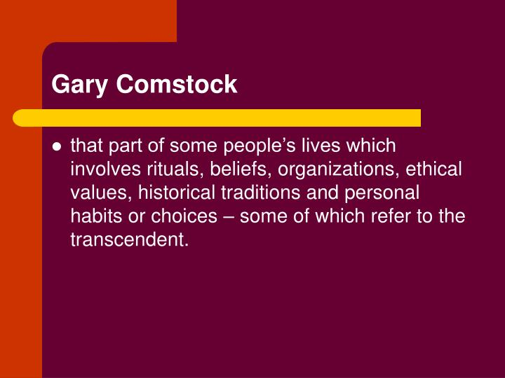 Gary Comstock