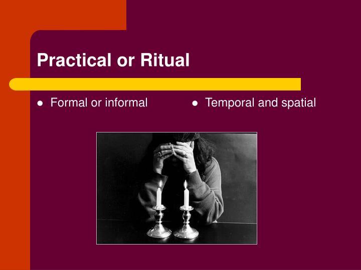 Formal or informal