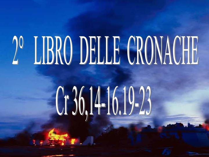 2°   LIBRO  DELLE  CRONACHE