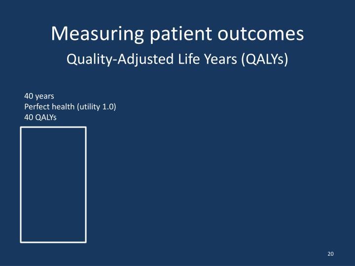 Measuring patient outcomes