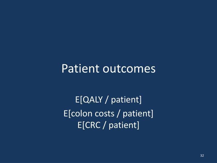 Patient outcomes