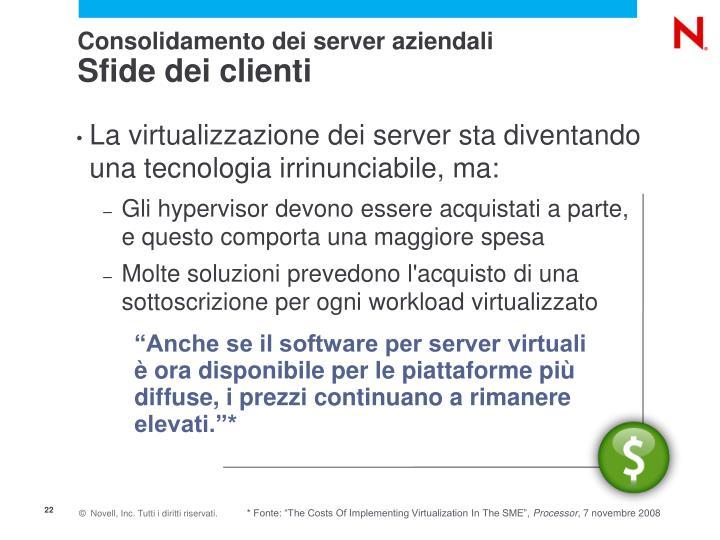 Consolidamento dei server aziendali