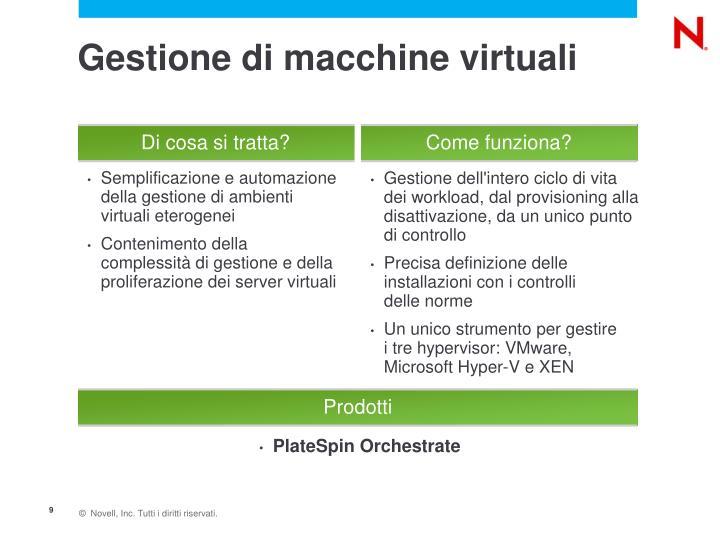 Gestione di macchine virtuali