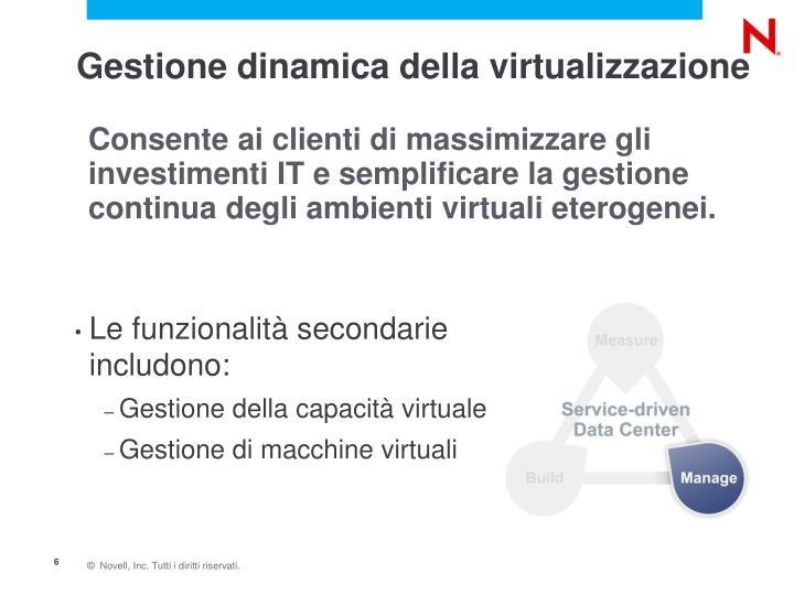 Gestione dinamica della virtualizzazione