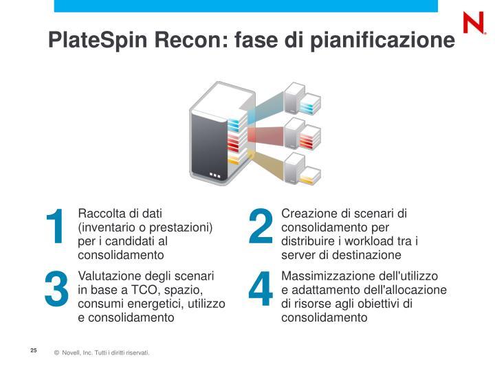 PlateSpin Recon: fase di pianificazione